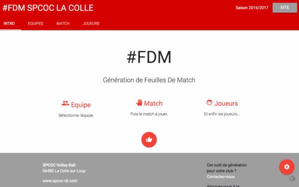 Générateur PDF – Feuille de match